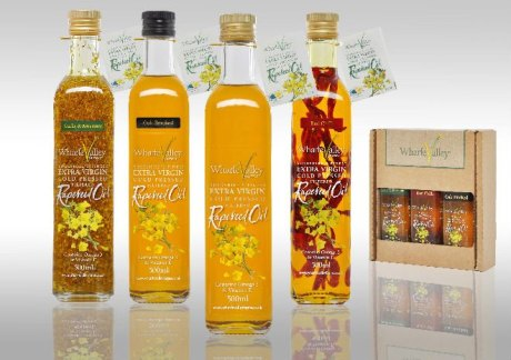 Wharfe Valley rapeseed oil comes in all sorts of varieties