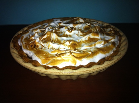 Amber's pecan pie with a meringue twist
