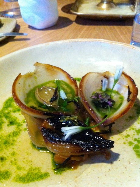 Burnt onions in gin, apple and thyme jus