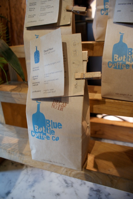 Lovely packaging at Blue Bottle coffee