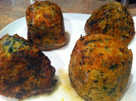 Spinach and ricotta scotch eggs