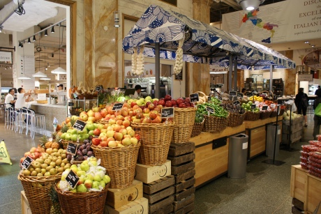 Seasonal produce in the New York shop