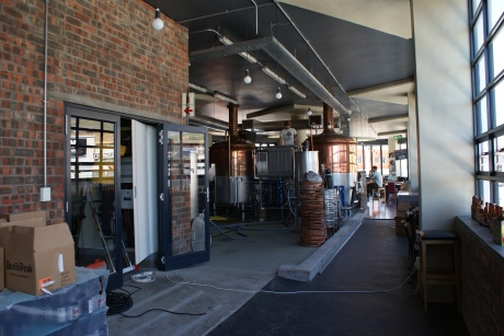 Craft brewing, hand bottled and all at the back of a spacious bar and restaurant
