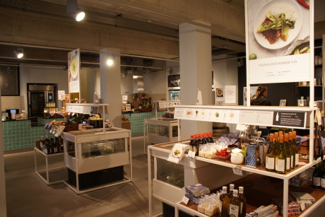 Each counter merchandises a different recipe and recipes are changed weekly