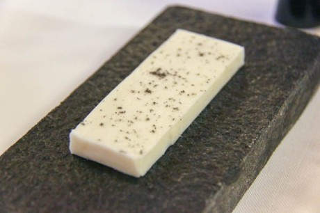 The smoked goats milk butter