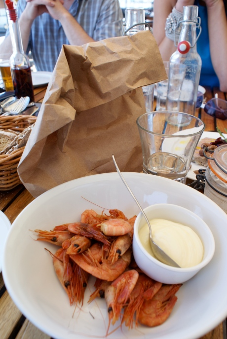 Simply delicious smoked prawns served at Pumpen, the casual eatery at Oaxen