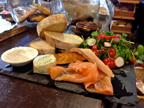A showcase platter with signature smoked salmon and eel presented beautifully for lunch