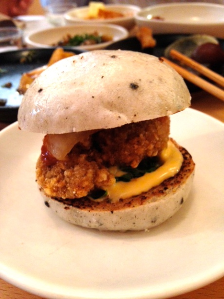 Fried chicken bao