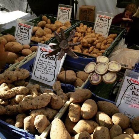 The Potato Shop stall at Marylebone Farmer's Market